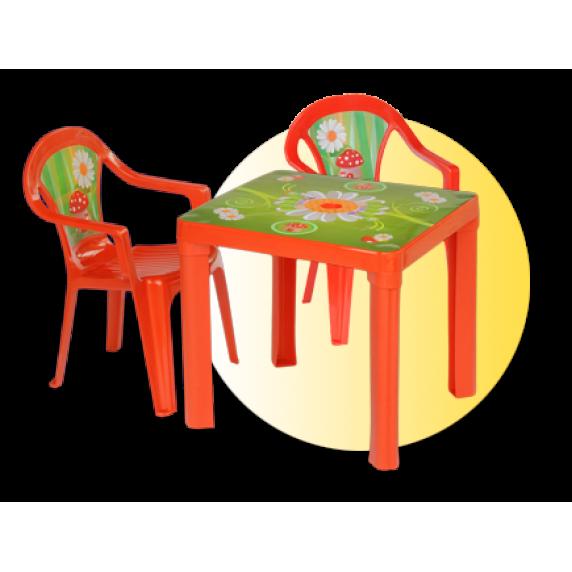 Inlea4Fun set - 2 stoličky + 1 stolík
