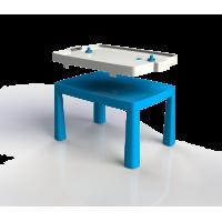 Inlea4Fun EMMA Umelohmotný stolík pre deti so vzdušným hokejom - modrý