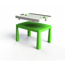 Inlea4Fun EMMA Umelohmotný stolík pre deti so vzdušným hokejom - zelený Preview