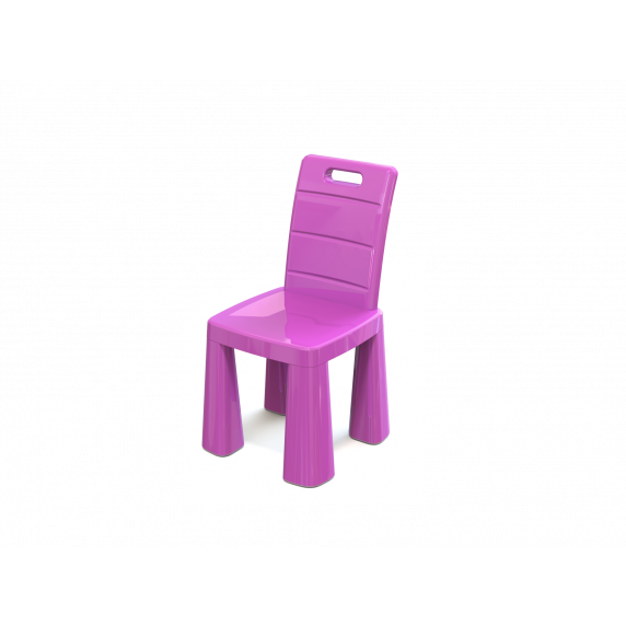 Inlea4Fun EMMA Umelohmotná stolička - ružová