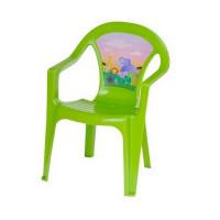 Inlea4Fun umelohmotná stolička pre deti s motívom - Zelená