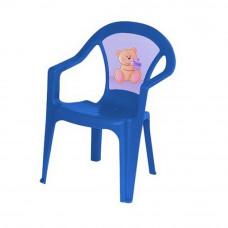 Inlea4Fun umelohmotná stolička pre deti s motívom - Modrá Preview
