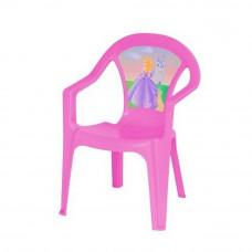 Inlea4Fun umelohmotná stolička pre deti s motívom - Ružová Preview