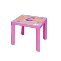 Inlea4Fun umelohmotný stolík pre deti s motívom - ružový