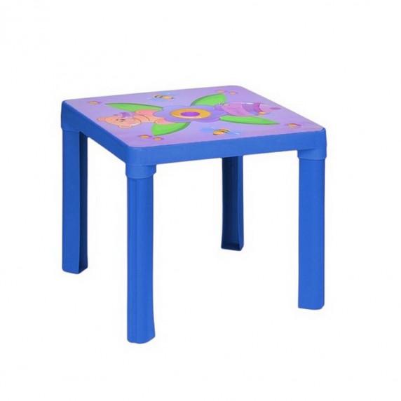 Inlea4Fun umelohmotný stolík pre deti s motívom - modrý