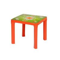 Inlea4Fun umelohmotný stolík pre deti s motívom - červený