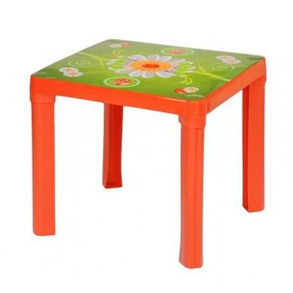Umelohmotný stolík Inlea4Fun - červený