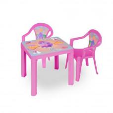 Inlea4Fun set - 2 stoličky + 1 stolík  - Ružová Preview