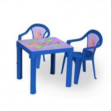 Inlea4Fun set - 2 stoličky + 1 stolík  - Modrá Preview