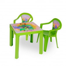 Inlea4Fun set - 2 stoličky + 1 stolík  - Zelená Preview