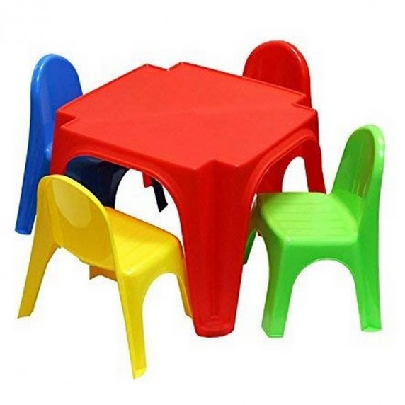 Inlea4Fun detský plastový stôl so stoličkami Keren
