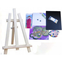 Inlea4Fun S60-2 Maliarsky stojan stolový sada - naturálny