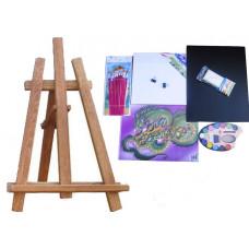 Maliarsky stojan stolový sada Inlea4Fun S60 WYP2 TEAK - hnedý Preview