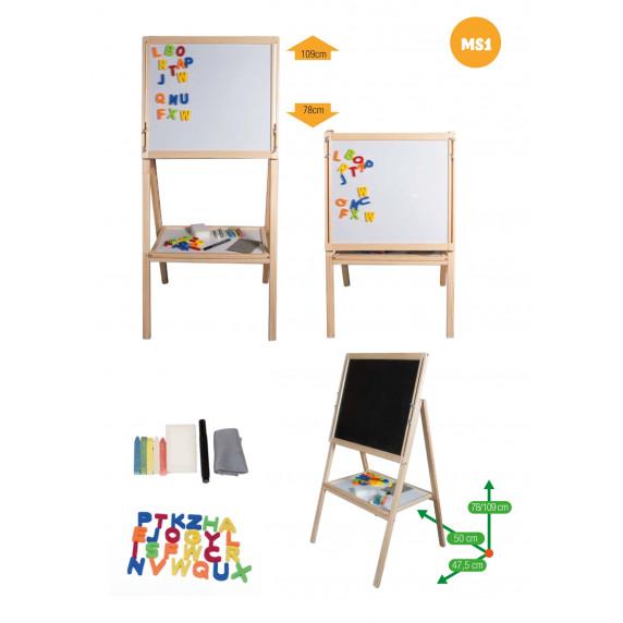 Detská otočná tabuľa Inlea4Fun MS1