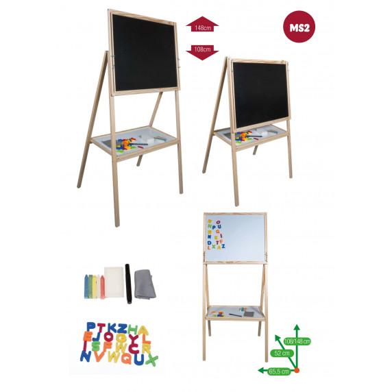 Inlea4Fun detská otočná tabuľa MS2-veľká