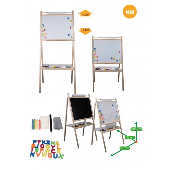 Detská otočná tabuľa Inlea4Fun MS3