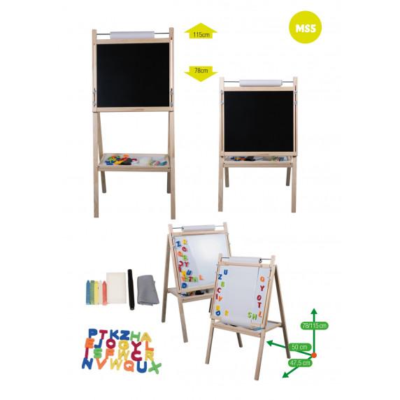 Inlea4Fun detská otočná tabuľa MS5