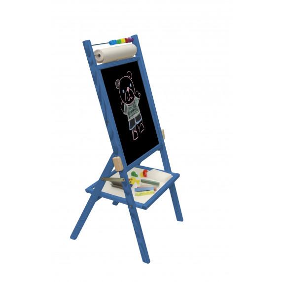 Detská obojstranná tabuľa Inlea4Fun - modrá