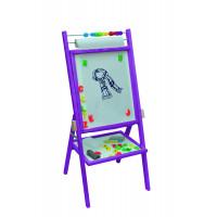 Inlea4Fun detská obojstranná tabuľa - fialová