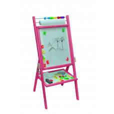 Inlea4Fun detská obojstranná tabuľa - ružová Preview
