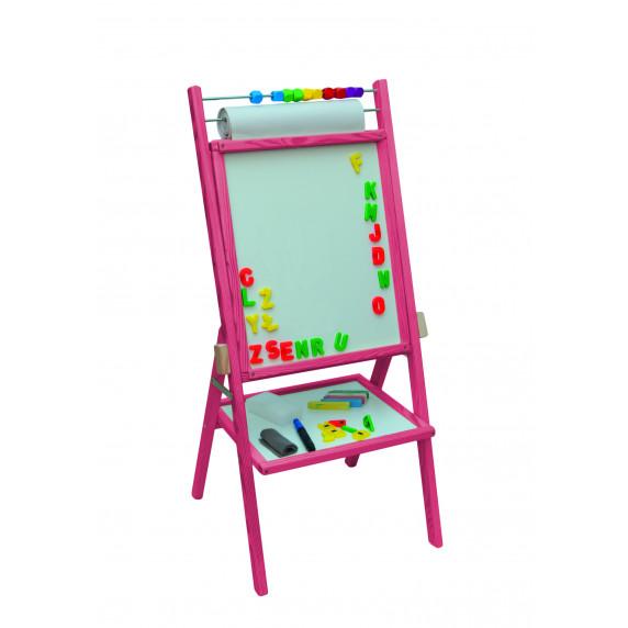 Inlea4Fun detská obojstranná tabuľa - ružová