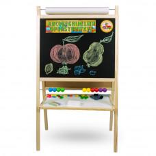 Inlea4Fun detská magnetická tabuľa s počítadlom FANTASY natural Preview