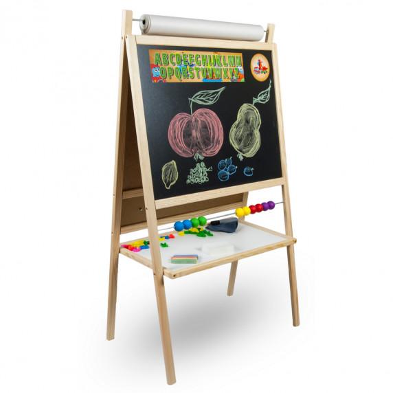Inlea4Fun detská magnetická tabuľa s počítadlom FANTASY natural
