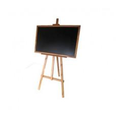Kresliaca tabuľa so stojanom jednostranná 180 cm Inlea4Fun - hnedá Preview