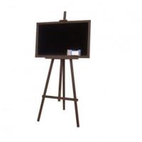Kresliaca tabuľa so stojanom jednostranná 160 cm Inlea4Fun - tmavohnedá