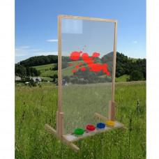 Inlea4Fun Stojan na maľovanie s bezpečnostným sklom DIXIE - natural Preview