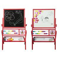 Inlea4Fun detská obojstranná tabuľa MAX červená