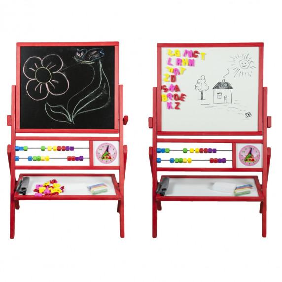 Detská obojstranná tabuľa Inlea4Fun MAX červená