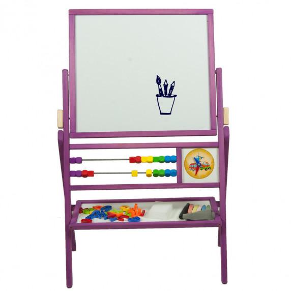 Detská obojstranná tabuľa Inlea4Fun MAX fialová