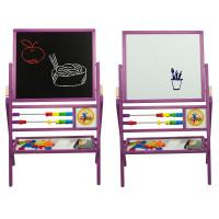 Inlea4Fun detská obojstranná tabuľa MAX fialová