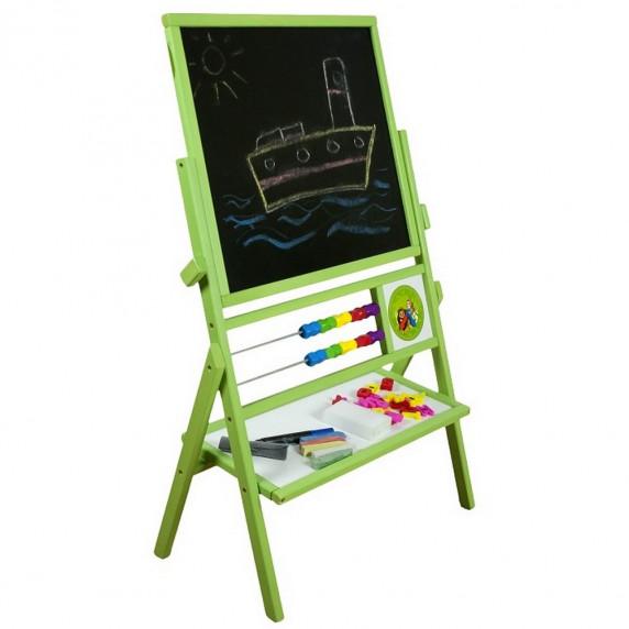 Inlea4Fun detská obojstranná tabuľa MAX zelená