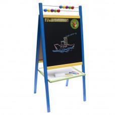 Detská obojstranná tabuľa Inlea4Fun ABU modrá Preview