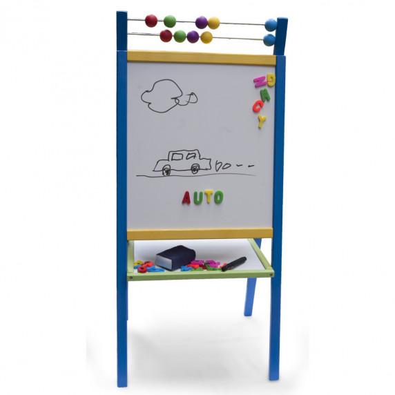 Inlea4Fun detská obojstranná tabuľa ABU modrá