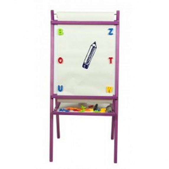 Inlea4Fun detská obojstranná tabuľa TEDDY MOP - Fiaľová