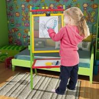 Inlea4Fun detská tabuľa s bezpečnostným sklom TRIXY + obojstranná doska