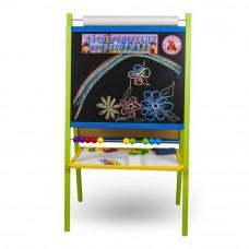 Inlea4Fun detská magnetická tabuľa s počítadlom FANTASY farebná