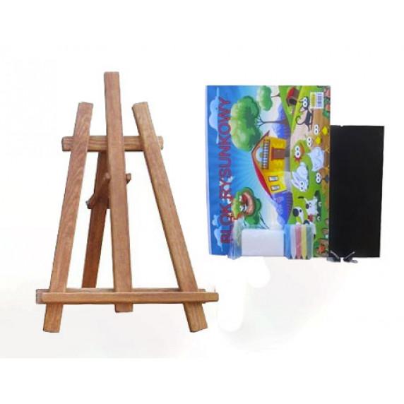 Maliarsky stojan stolový sada 60 cm Inlea4Fun - hnedý