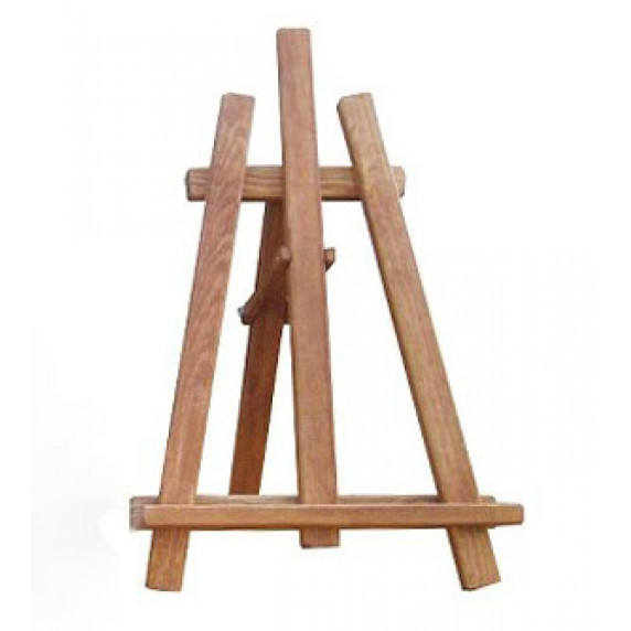 Maliarsky stojan stolový sada Inlea4Fun S60-3 - hnedý