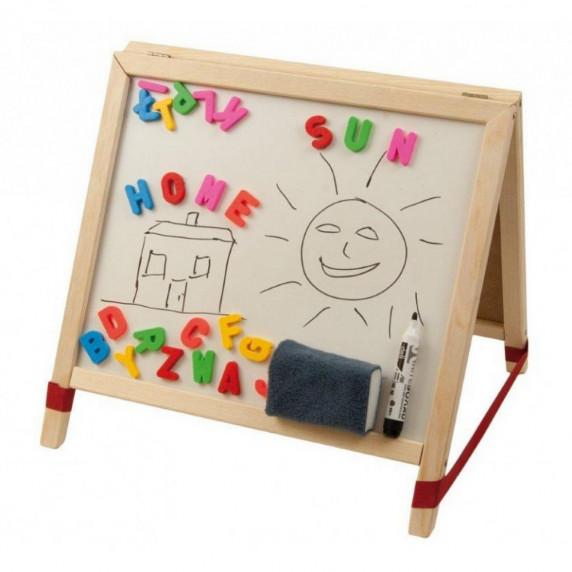 Detská kresliaca tabuľa Inlea4Fun TABLE stolná - obojstranná
