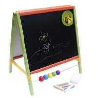 Detská kresliaca tabuľa Inlea4Fun TABLE  stolná obojstranná - farebná