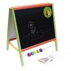 Detská kresliaca tabuľa Inlea4Fun TABLE  stolná obojstranná - farebná Preview