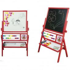 Inlea4Fun detská obojstranná tabuľa MAX červená Preview