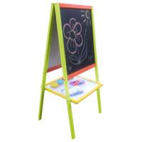 Inlea4Fun detská magnetická obojstranná tabuľa MERSI - farebná