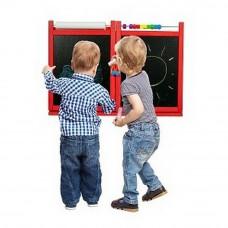 Inlea4Fun detská magnetická školská tabuľa FIRST SCHOOL červená Preview