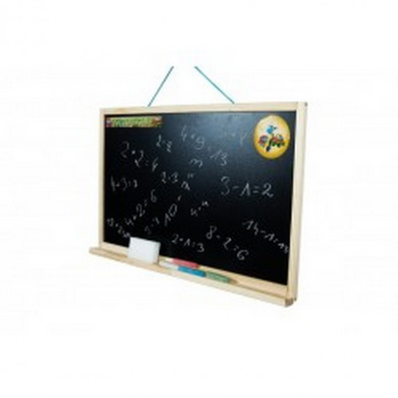 Kresliaca tabuľa so stojanom jednostranná 180 cm Inlea4Fun - naturálna