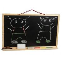 Nástenná kresliaca tabuľa Inlea4Fun SIMPLE ONE jednostranná - Natural